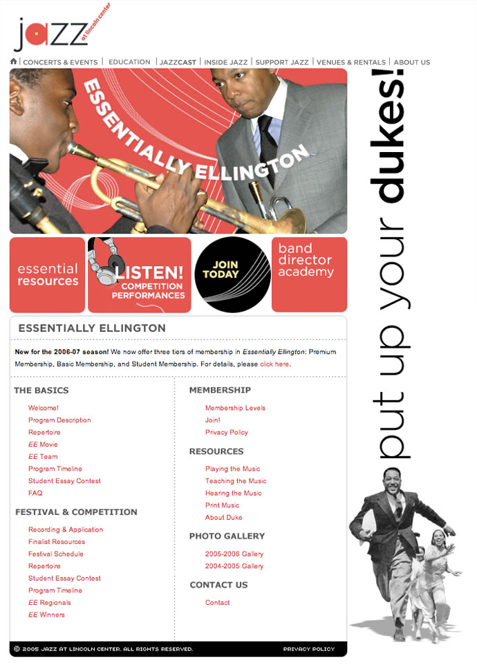 Jazz at Lincoln Center Website