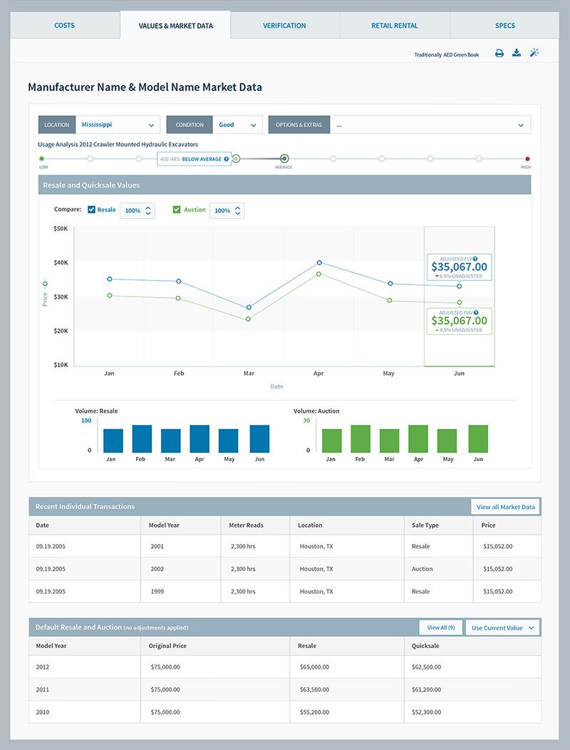 EquipmentWatch Software UI
