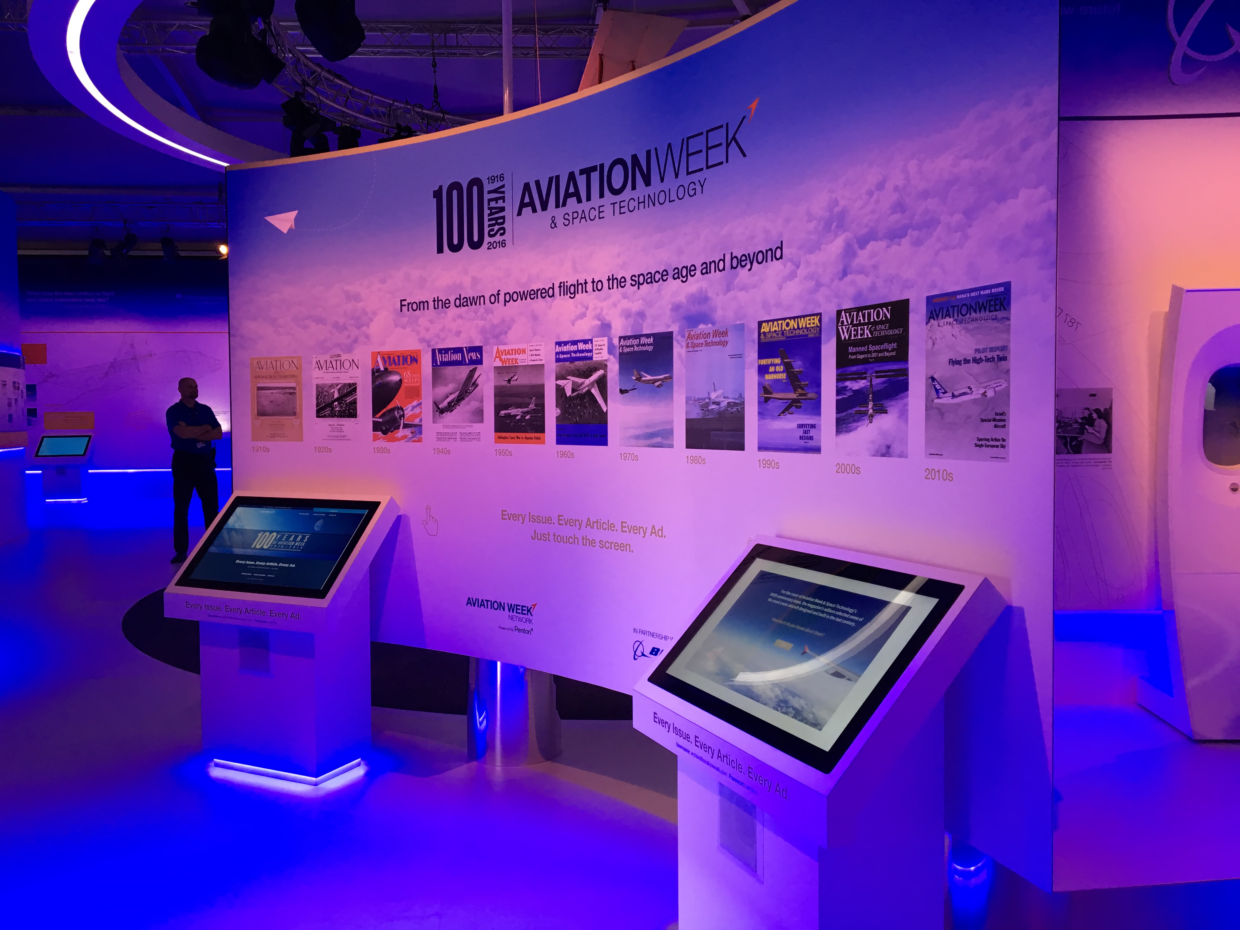 Boeing interactive kiosk