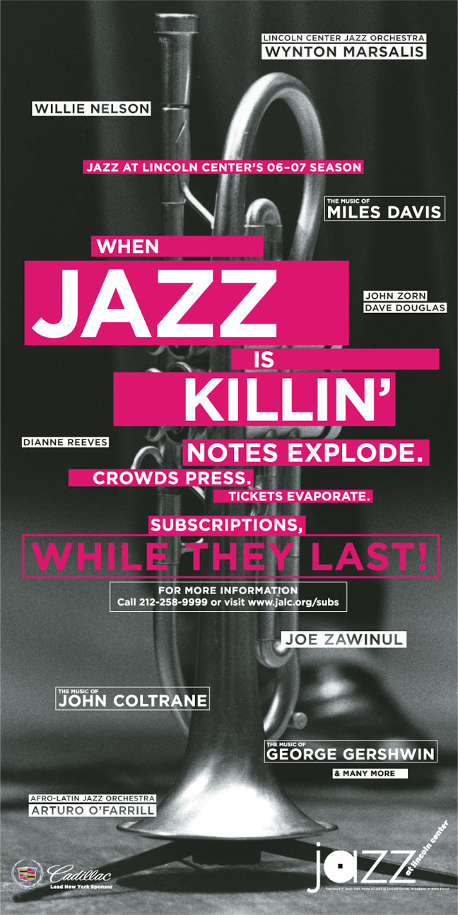 Jazz at Lincoln Center Subscription Poster 2006