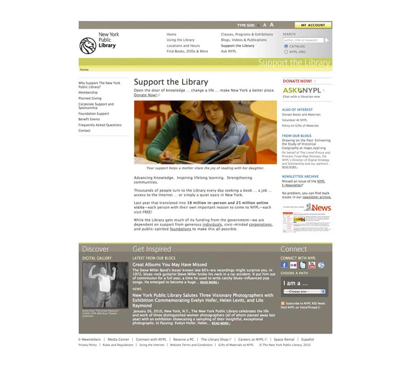 NYPL website