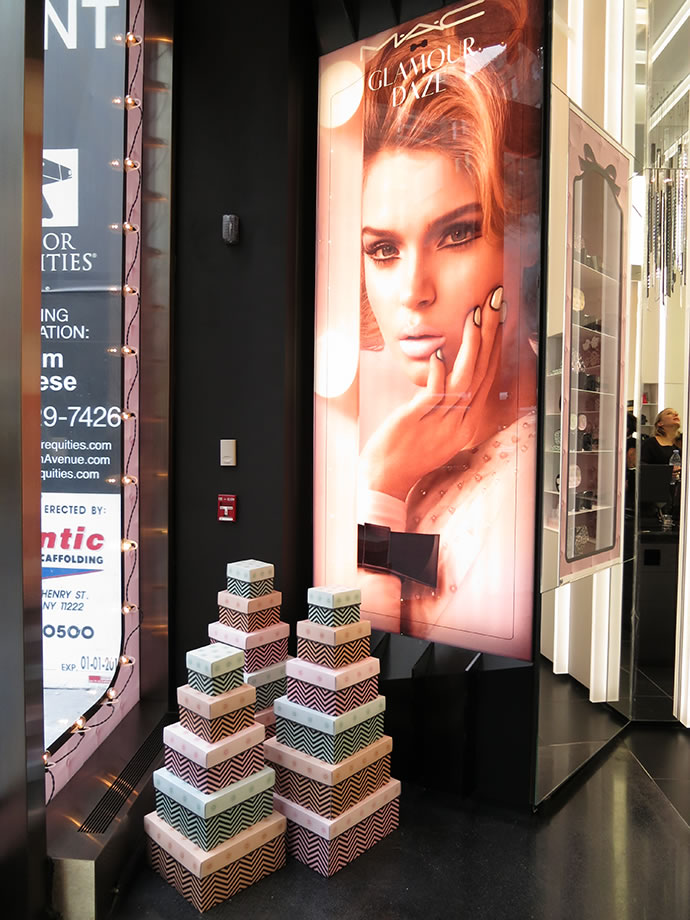 MAC Glamour Daze Window Design