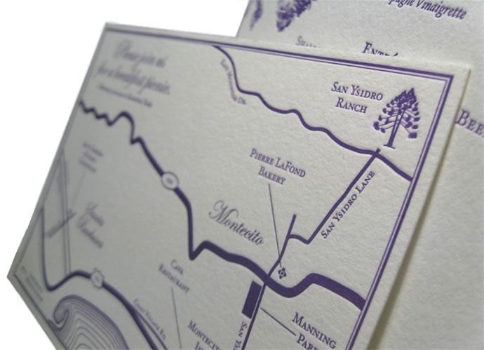 Letterpress map